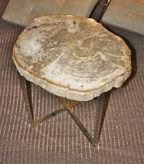 wood slice side table petrified wood slice side table unique accent tables bali chic style