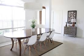 Oversized Dining Room Chairs Dining Room With White Walls Modern Chairs And Oversized Drum
