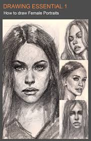 learn to draw female faces or portraits