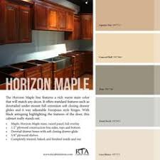 color palette to go with our ginger maple kitchen cabinet line