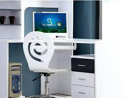 Modern Computer Desk Impressive Green Glass Modern Computer Desk Idea With Two Wheel