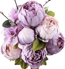 silk flower duovlo flowers vintage artificial peony silk