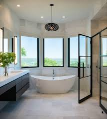 shower doors of austin with transitional bathroom and bathroom