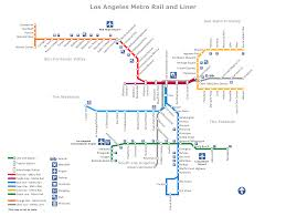 Gold Line Metro Map by Metro Rail And Liner Los Angeles Map Www Conceptdraw Com