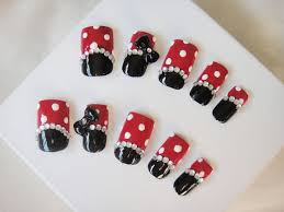 3d minnie mickey mouse nails
