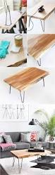 steps diy wood slab hairpin leg coffee table ispydiy to buy