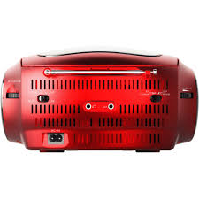 ematic cd boombox with am fm radio bluetooth audio and