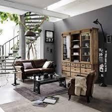 maison du monde küche canapé 3 4 places en cuir marron industrial industrial chic and