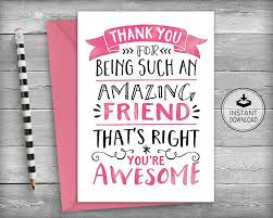 thank you cards friendship cards thank you friend friend