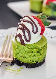 White Chocolate Dipped Strawberries Recipe 1 Matcha Mini Cheesecakes With White Chocolate Covered