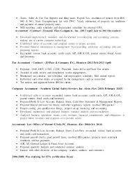 sle resume templates accountants compilation report income property accountant sle resume shalomhouse us