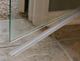 Bathroom Shower Door Seals How To Clean The Plastic At The Bottom Of A Glass Shower