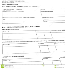 Curriculum Vitae Blank Form Looking For Job Resume Blank Form Isolated Stock Photos Image