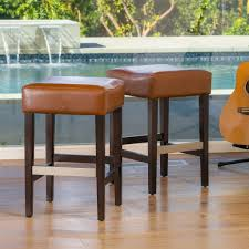 Backless Counter Stool Leather Bar Stools Great Deal Furniture Canada