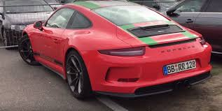 porsche boxster fender flares lava orange 2017 porsche 911 r with green stripes is only for the