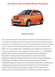 kia picanto service repair manual download by shonta wede issuu