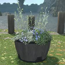 Half Barrel Planter by Half Barrel Planter Ffxiv Housing Outdoor Furnishing