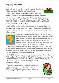 ks2 literacy biography and autobiography biography roald dahl biography and autobiography home page
