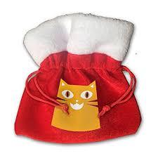drawstring gift bags cat santa clause christmas gift bags drawstring bag candy