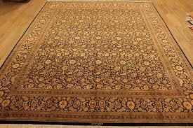 Black Gold Rug Large 10x8 Silk Black Gold Qom Persian Rugs Gorgeous Qum Carpets