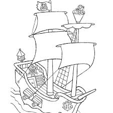 coloriage bateau de pirate a imprimer gratuit