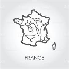France Map Outline by France Sketch Map Outline Icon Of French Republic European Border