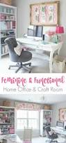 Home Office Decorating Ideas by Feminine Home Office U0026 Craft Room Tour Atta Says