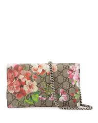 bloom wallet gucci gg blooms supreme chain wallet multi neiman