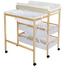 Baby Changing Table With Bath Tub Tectake Baby Toddler Changing Table Station With Integrated Bath