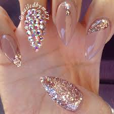 how pretty are these diamond studded stilettos by getbuffednails
