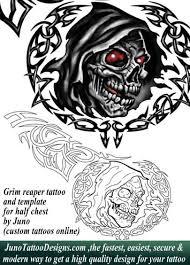 grim reaper skull tattoo by juno tattoo designs how to create a