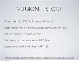 android versions wiki introduction to android development with java