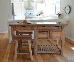 united house furniture rustic timber kitchen island bench with