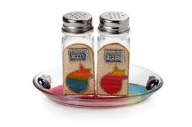 shabbat plata salt pepper shakers
