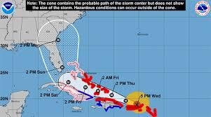 hurricane tracker 5 p m update shows hurricane irma u0027s eye