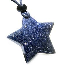 amazon com bamos jewelry womens amazon com amulet magic five pointed super star crystal blue