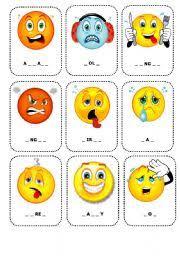 english teaching worksheets feelings flashcards
