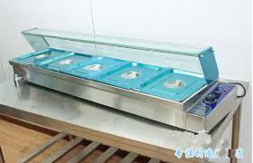 5 well commercial bain marie buffet food warmer server 220v on