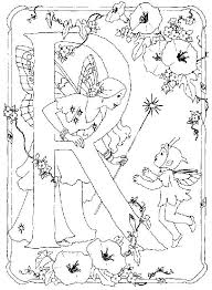 flower fairies alphabet color it yourself art psychedelic