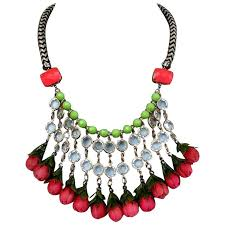 bib necklace designs images Funky in vogue bib necklace handmade designer roses bead jewelry jpg