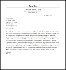 cover letter police officer professional sergeant cover letter sample writing guide