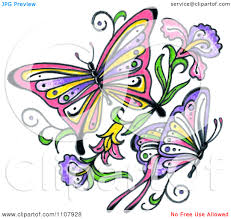 butterfly and flower clipart clipart panda free clipart images