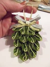 diy ribbon pinecone ornament tutorial so vintage looking