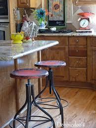 Industrial Metal Kitchen Chairs Furniture Vintage Bar Stool Industrial Metal Design Wood Top