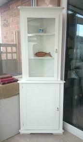 antique white corner cabinet antique white corner curio cabinet corner cabinets