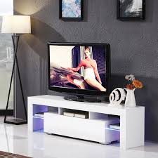 Led Tv Table Modern Modern Tv Unit Cabinet U0026 White High Gloss White 160cm Tv Stand