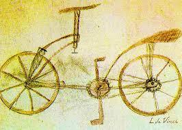 da vinci inventions first bicycle sketch by da vinci greeting card