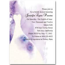 printable bridal shower invitations wedding dress purple invitations for bridal shower ewbs013