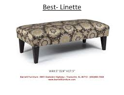 Ottoman Bench Barnett Furniture Ottomans
