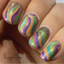 nails design water marble beautify themselves with sweet nails